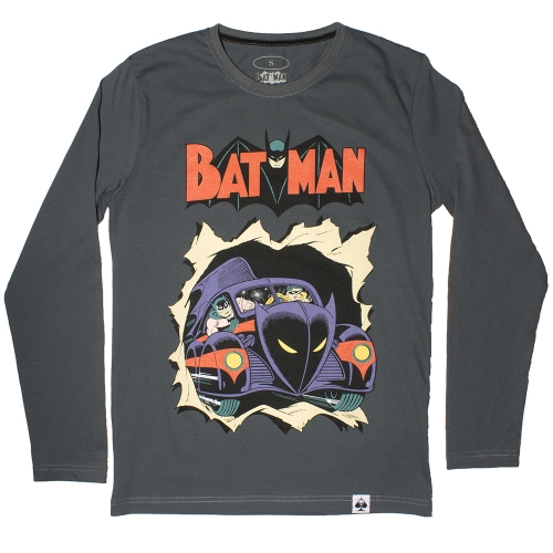 Футболка Batman Grey: long sleeve